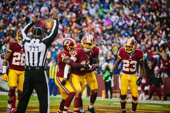 REDSKINS IN FIRST IN NFC EAST AFTER WIN OVER GIANTS