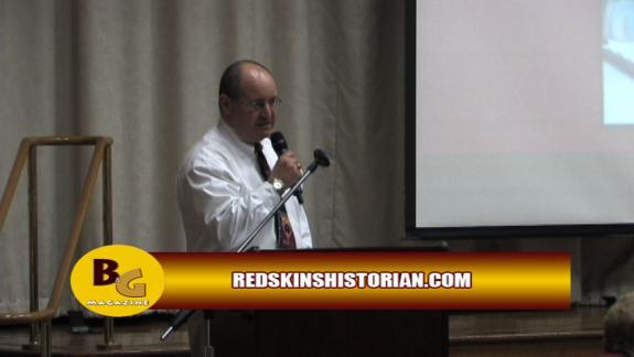 Sept. 15, 2011: Redskins history presentation + Q&A w/ Redskins great Ron McDole