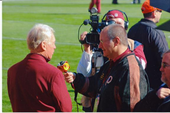Nov. 4, 2012: Mike Richman & legendary Redskins GM Bobby Beathard