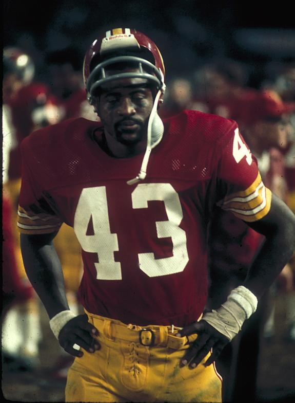 The indomitable Larry Brown gained 5,875 yards in his career and was once the leading rusher in Redskins history.