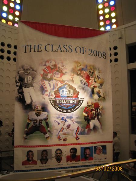 Aug. 1-3, 2008: Pro Football Hall Of Fame (Darrell Green, Art Monk inductions)