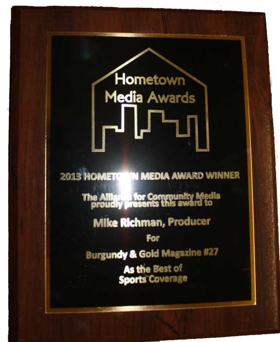 2013 Hometown Media Awards: Burgundy & Gold Magazine
